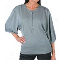 Magaschoni Long Sleeve Henley Top