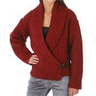 Magaschoni Mohair Blend Sweater With Shawl Collar