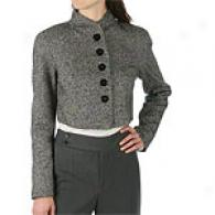 Magaschoni Tweed Cropped Blazer