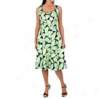 Maggy London Cotton Floral Scoop Neck Dress
