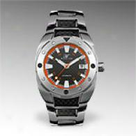 Magico Mens Stainless Steel Orange Watch