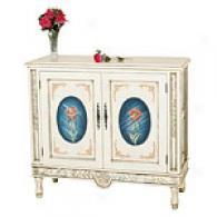 Manor Garden Hand Painte dRose 2-door Cabinet