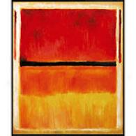 Mark Rothko Metal Framed Oil Painting