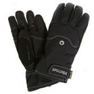 Marmot Mens Black Randonnee Undercuff Gloves