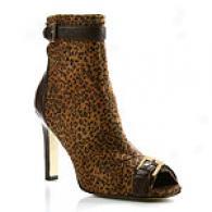 Martinez Valero Willey Cheetah Peep-toe Bootie