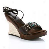 Matisse Lotto Studded Wedge Ankle Wrap Sandal