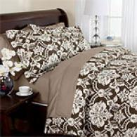 Max Collectuon Damask 500tc Single-ply Duvet Set