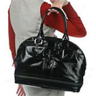 Maxx New York Faux Patent Leather Dome Satchel