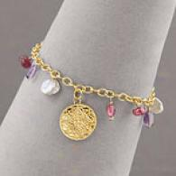 Maya Brenner Amethyst, Pearl & Garnet Bracelet