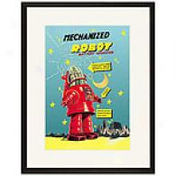 Mechanized Robot 17 X 23 Framed Print
