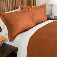 Medallion 420tc Single-ply Cotton Duvet Set