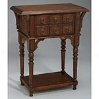 Medium Brown 6 Drawer Accnet Table
