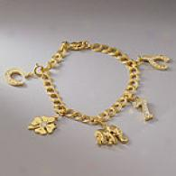 Mia & Lizzie Gold Good Luck Charm Bracelet