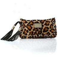 Michael Kors Calf Hair Cheetab Clutch