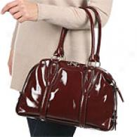 Michael Kors Chestertown Mediuj Patent Satchel