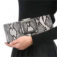 Michael Kors Collection Python Clutch