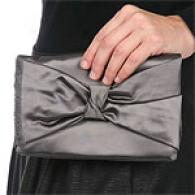 Michael Kors Collection Satin Bow Clutch