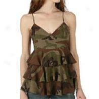 Michael Kors Collection Silk Tiered Top