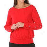 Michael Kors Long Sleeve Top With Button Detail