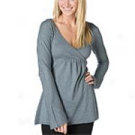 Michael tSars Grey Shinne Surplice Babydoll Top