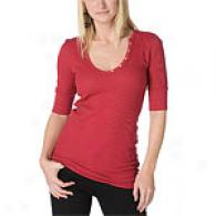Michaei Stars Wicked 3/4 Sleeve V-neck Henley