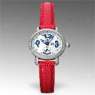 Michele Csx Blue Mini Diamond Watch