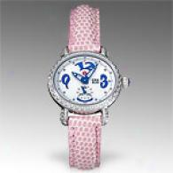 Michele Womens Csx Blue Mini Diamond Watch