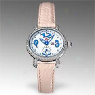 Michele Womens Csx Blue Mini Diamond Watch