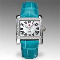 Michele Womens Mw2 Diamond Teal Watch