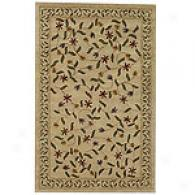 Midnight Garden Handcrafted Ivory Wool Rug