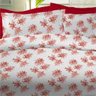 Mirabello Coral Red 200tc Egyptian Duvet Set