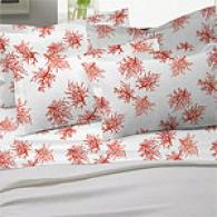 Mirabello Coral Red 200tc Egyptian Sheet Set