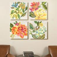 Modern Chintz Set Of 4 Canvas Prints