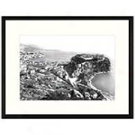 Monaco Coastline Framed Print