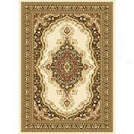 Monarchy Ivory Medallion Traditional Rug