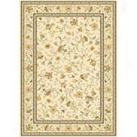 Monarchy Ivory Trraditional Floral Rug