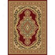 Monarchy Red Medallion Traditional Rug