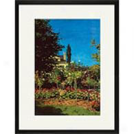 Monet Garden Bloom At Saint-adresse Framed Print