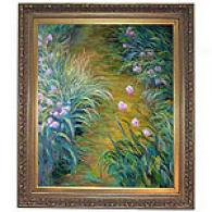 Monet Irises Oil Painting