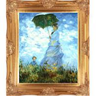 Monet Madame Monet And Her Son Framed Oil Painting