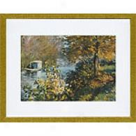 Monet The Sudio Boat Framed Print