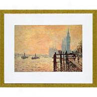 Monet The Thames At Westninster Framed Print