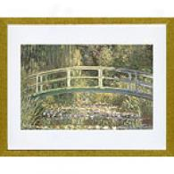 Monet Waterlilies And Japanese Bridge Framed Print