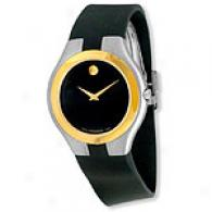 Movado Echelon Men's Black Rubber Strap Watch