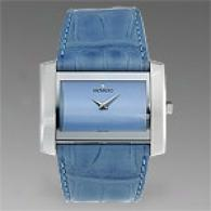 Movado Eliro Blus Leather Strap Watch