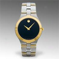 Movado Juro Mens Gold Plated Stainless Steel Watch