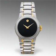 Movado Meza Mens 18k & Stainleas Steel Watch