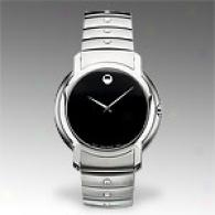 Movado Sl Mens Stainless Steel Black Watch