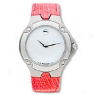 Movado Sports Edition Large Pink Strap Watch