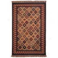 Multi Colored Checkerboard Jute & Wool Rug